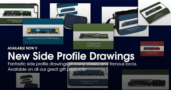 Locomotive Side Profile Drawings Now Available!