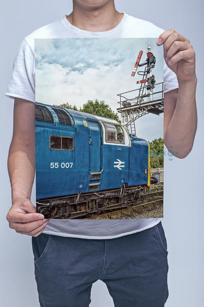 Man Holding 55007 Under the Semaphores Wall Art Print