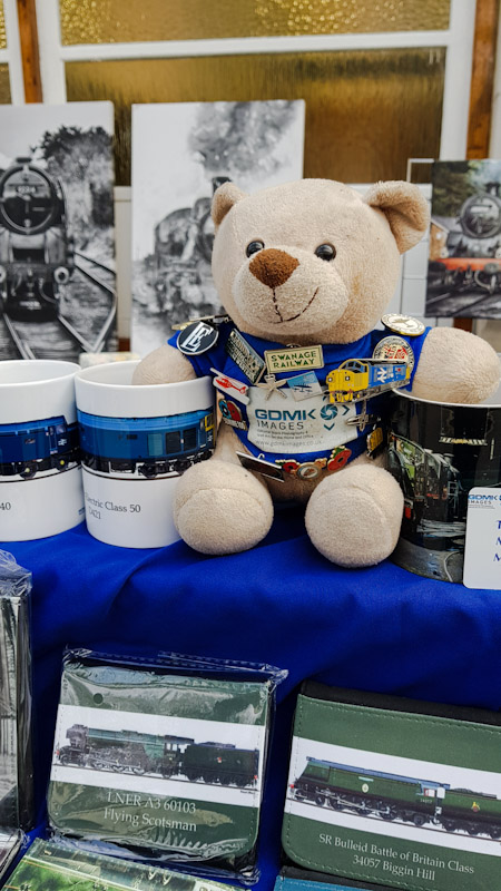 Ted chilling with the mugs at the Swanage Railway Steam Gala - The Works Outing