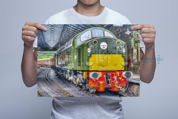 Man Holding Class 40 D213 Pickering Digital Art Print