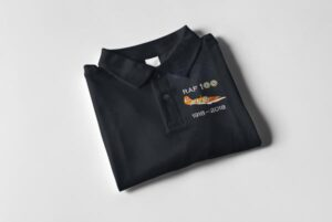 RAF 100 Anniversary Navy blue Hurricane polo