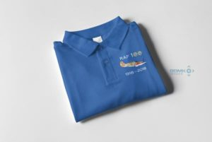 RAF 100 Anniversary Royal blue Hurricane polo