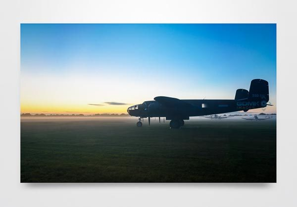 B25 at Dawn Wall Art Print