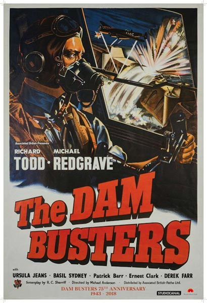 Dambusters Film Poster 75th Anniversary Version
