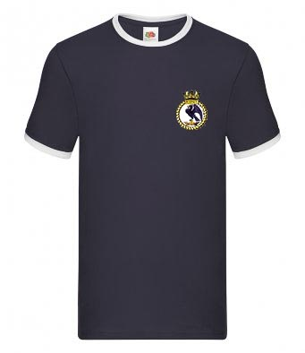 50021 Rodney Crest Navy Blue T-Shirt
