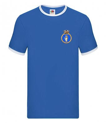 50026 Indomitable Crest Royal Blue T-Shirt