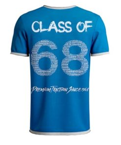 Class of 68 Ringer T-Shirt Back Royal Blue