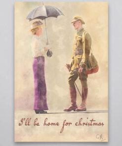 I'll Be Home For Christmas Wall Art Print