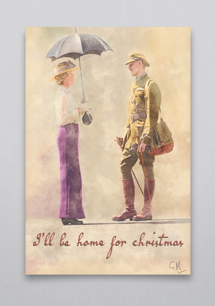 I'll Be Home For Christmas Wall Art Print