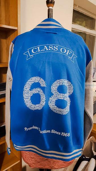 Royal Blue Class of 68 Varsity Jacket