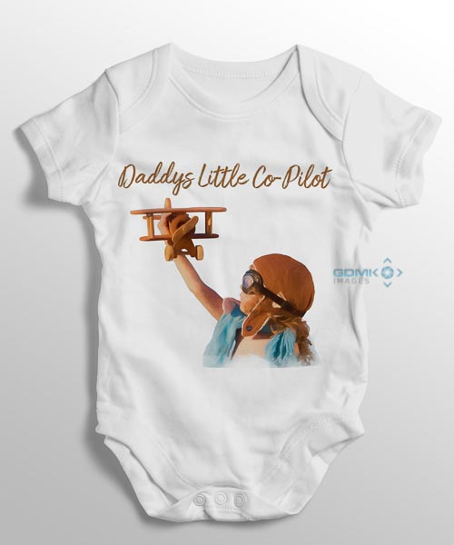 daddys little co-pilot baby grow sl