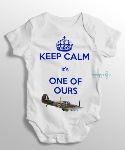 keep calm its one of ours baby grow