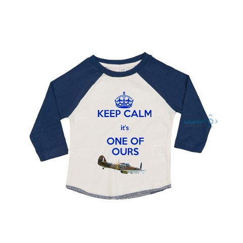 keep calm its one of ours toddlers baseball tee