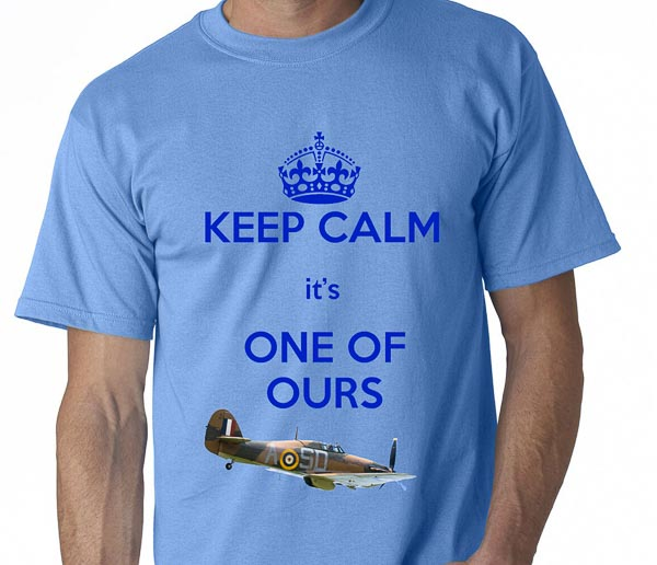 keep calm its one of ours blue t-shirt