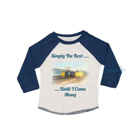 simply the best toddlers baseball tee