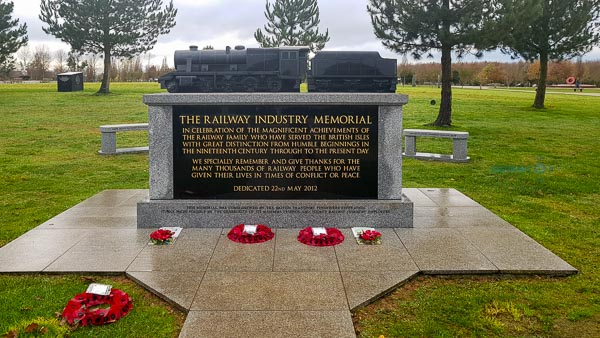 Railway Industry Memorial at the National Memorial Arboretum