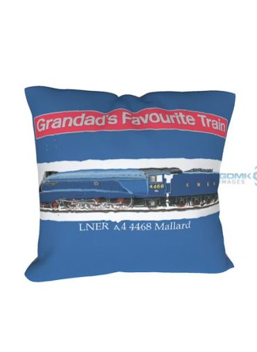 grandads favourite train cushion