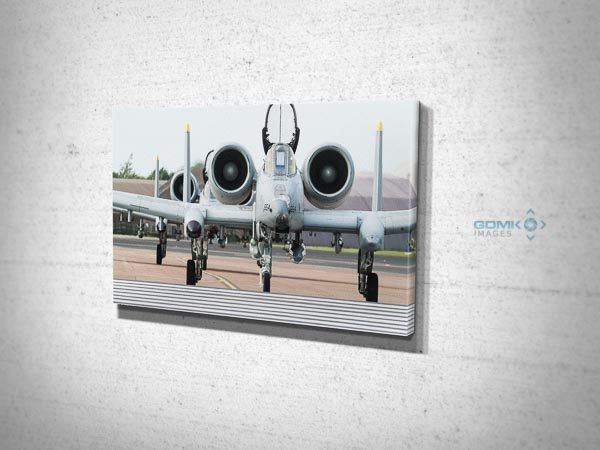 2 USAF A10 Tankbuster aircraft Canvas Wall Art Picture