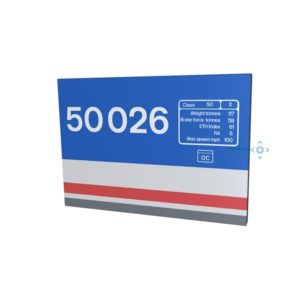 50021 and 50026 Metal Signs