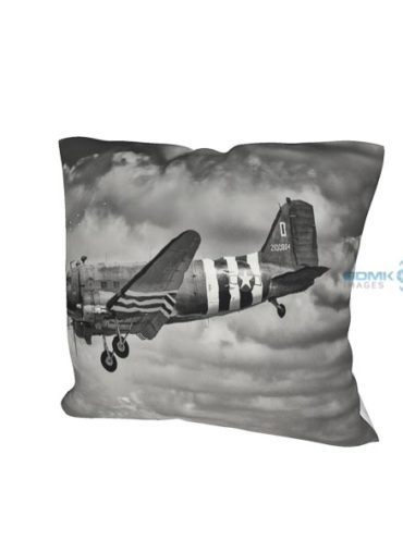 Black and white C-47 Dakota cushion