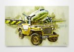 Jeep and C47 Skytrain Digital Art Print