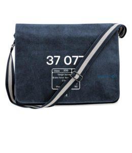 Messenger Bag 37077 Number and data plate