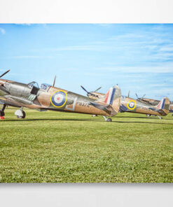 Spitfires Lined up for ASction Wall Art Print