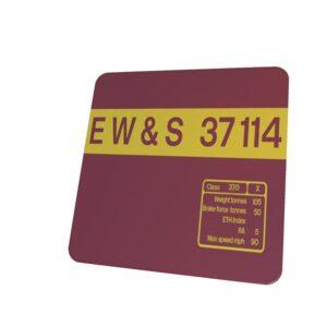 37114 EWS Replica Loco Side Panel Coaster