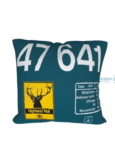 47641 Highland Stag Large Logo Clear cushion