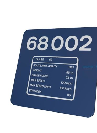 68002 DRS data plate sign
