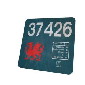 37426 Large Logo weathered coaster