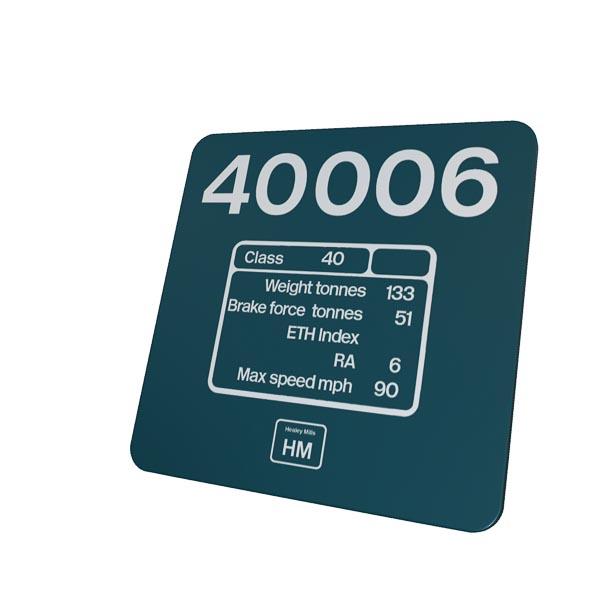 40006 Number DP + HM coaster