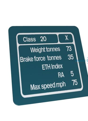 Class 20 BR Blue Data Panel Metal Sign