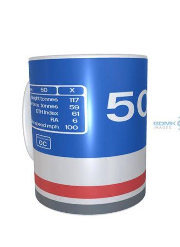 class 50 50026 data plate mug NSE Original