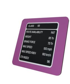 Class 68 TPE Pink Data Panel Coaster