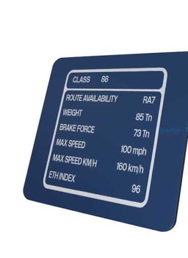 Class 88 DRS Blue Data Panel Metal sign