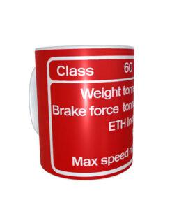 DB Schenker Red Class 60 Data Panel Mug