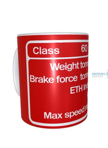 DB Schenker Red Class 60 Data Panel Mug