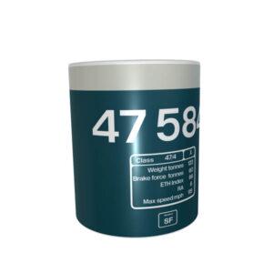 Class 47 47584 BR Blue Stratford Roof Data Panel Mug