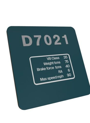 Class 35 D7021 Data Panel Br Blue Metal Sign