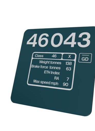 Class 46 46043 BR Blue Data Panel Metal Sign