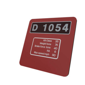 Class 52 D1054 western Maroon Data Panel Coaster