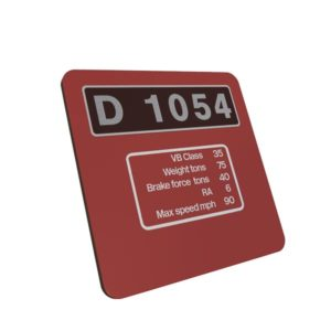 Class 52 D1054 western Maroon Data Panel Metal Sign