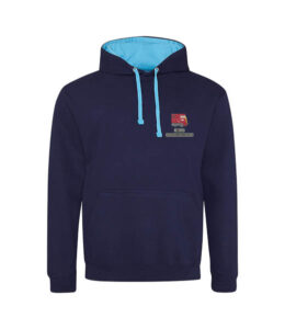 Class 52 Western Maroon Navy Blue And Hawaiian Blue hoodie