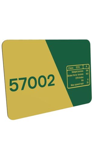 class 57 57002 Freightliner Data Panel Metal Sign