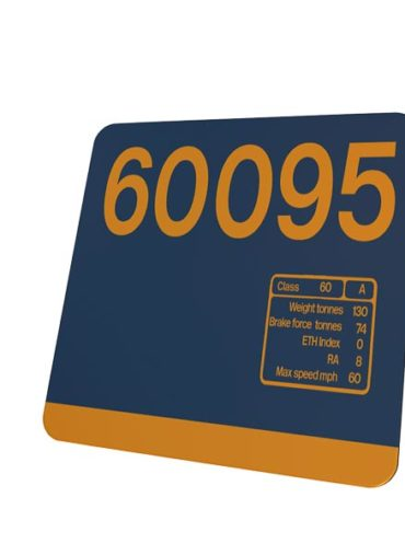 Class 60 60095 Data Panel coaster GBRF