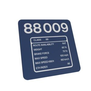 Class 88 88009 DRS Blue Data Panel