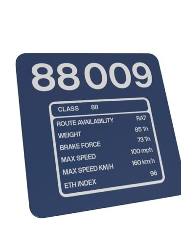 Class 88 88009 DRS Blue Data Panel