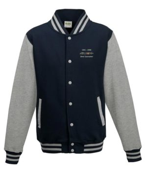 Classic British Aircraft Lancaster Oxford Blue Varsity Jacket