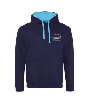 Classic British Aircraft Lightning Navy Blue And Hawaiian Blue hoodie